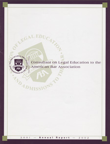 Consultant on Legal Education: Annual Reports 1994-2002